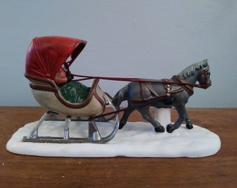 One a Horse Open Sleigh/Heritage Village Collection/ Dept 56