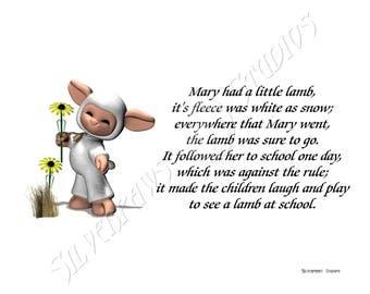 Nursery Rhyme - Mary Had A Little Lamb