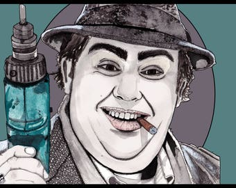 Uncle Buck, John Candy drawing/illustration Print