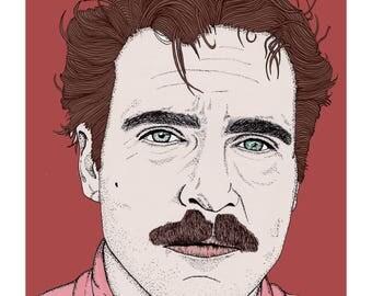 Her, Theodore, Joaquin Phoenix Illustration Print