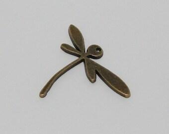 Ref: PB 225-1 antique bronze Dragonfly pendant