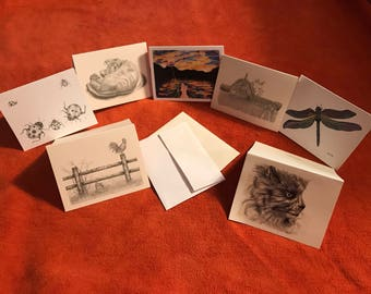 "4""x6"" blank note cards with envelopes"