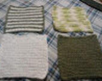 Monogrammed Dishcloth Set (4)
