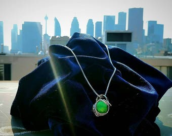 Wire Wrapped Emerald