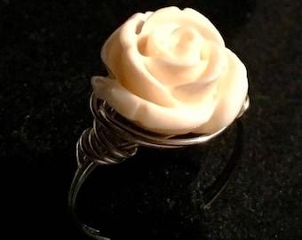 Rose Shell Ring