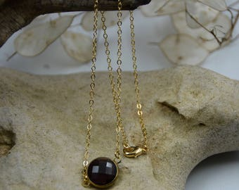Purple and Gold Pendant Necklace
