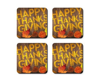 Thanksgiving Coasters - Set of 4