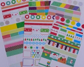 Rainbow Cartoon Mini Deco Stickers,Clear stickers,Transparent sticker,Diary sticker,6 sticker sheets