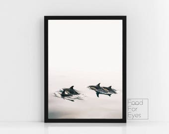 Orca Whale Print, Seascape Print, Sea Print, Affiche Scandinave, Scandinavian Print, Minimalist Art, Living Room Decor, Bedroom Decor