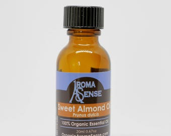 Organic Sweet Almond Oil: Pressed from almond kernels. Unrefined and certified organic.
