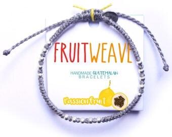 PASSIONFRUIT CLASSIC bracelet, Guatemalan Bracelets, Handmade bracelets, colorful bracelets, fruit based, fruit weave, friendship bracelets.