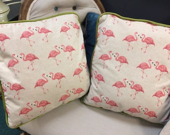 Handmade Flamingo Cushion