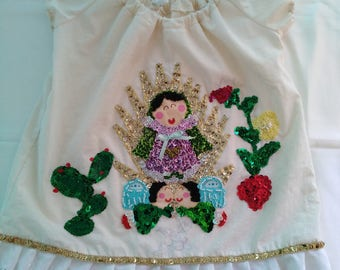 Our lady of Guadalupe dress, kids dress, girls dress, december the 12th