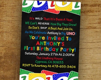 Uno Birthday Etsy