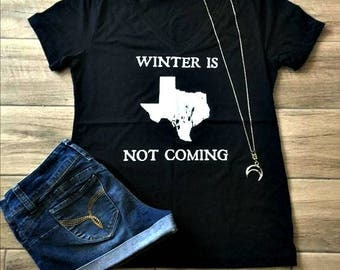 Winter in TX - shirt, game of thrones, GOT, jon snow, summer, hot, texas