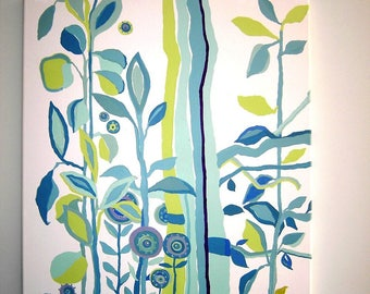 Acrylic painting - painting trees 54 cm X 65 cm