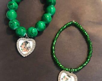 Fighting sioux bracelts