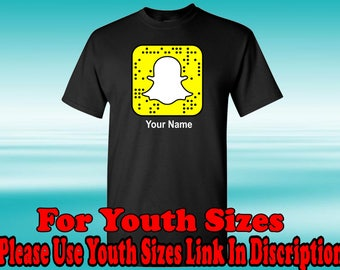 Snapchat QR T-Shirt, Get Your Snapchat QR on your T-Shirt