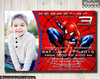 Spiderman invitation etsy spiderman invitation photo spiderman invitation spiderman birthday invitation spiderman invitations for boys solutioingenieria Gallery