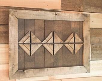 Boho Art, Wooden Boho Art, Shiplap Wall Art, Shiplap 3D Art, Framed