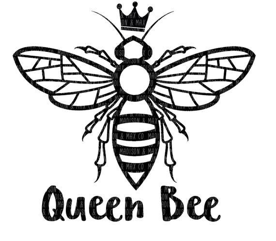 Queen Bee PNG dxf jpg ...