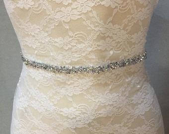 Bridal Belt | Wedding Belt | Bridal Sash | Wedding Sash | Crystal Bridal Belt | Bridal Accessories | Wedding Accessories