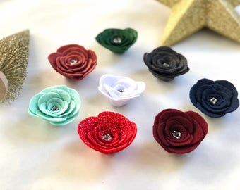 Men's holiday flower lapel pins, christmas lapel pin, holiday boutonniere pin, wedding lapel flower, lapel rose