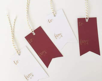 Custom Calligraphy Gift Tags-To and From gift tags-Wedding Gift Tags-Bridesmaid Gift Tags