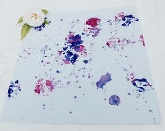 Painting purple tones