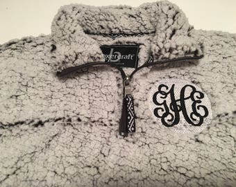 Youth Monogrammed Sherpa Pullover - Unisex Youth Sherpa Jacket - Monogrammed Fuzzy Jacket