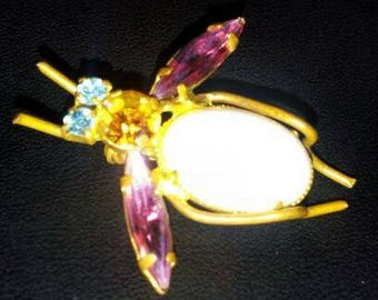 Vintage 1950's Fly brooch made in Austria