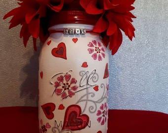 Love Hearts: vase, centrepiece,potpourri jar