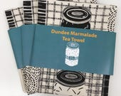 Dundee Marmalade Tea Towel / Food Art / Food / Screen Printed in UK / Illustrated tea towel / Scottish Gift / illustrated by Louise Kirby