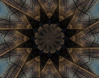 Glenelg Jetty Kaleidoscope Print