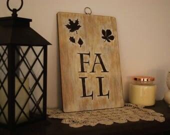 FALL decorative sign