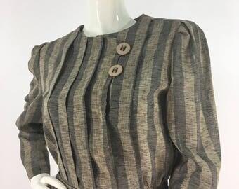 Vintage striped blouse, 70s blouse