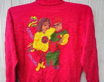 Vintage 90s Reggae Rap Hip Hop Rasta Jamaica Swag Sweatshirt Bob Marley