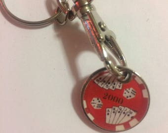 Poker/cards trolley keychain