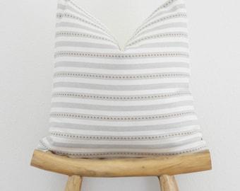Grey Pillow Cover, Stripe Pillow, Mustard Pillow, boho Pillow,  pillow cover, farmhouse pillow, accent pillow, accent pillow cover