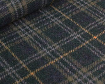 Teal Wool Plaid Fabric - per metre