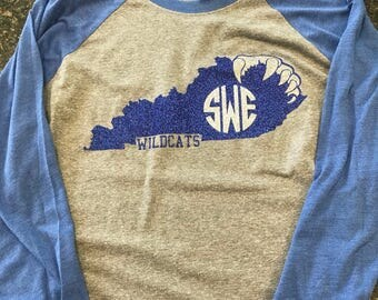Kentucky wildcats Raglan