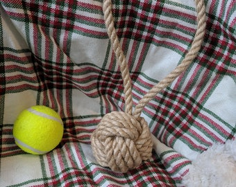 Rope Knot Dog Toy- Jute