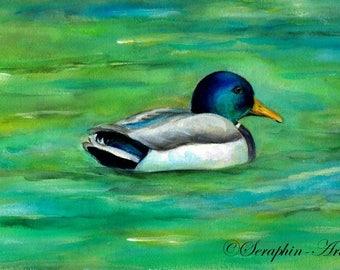 Duck Original Watercolor Painting