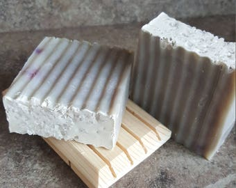 Lavender and Cedarwood Soap, Sea Clay Soap, Sea Salt Soap, Facial Soap, Sensitive Skin Soap, Clay Soap, Kaolin Clay Soap, Handcrafted Soap