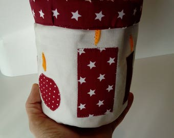 Reversible fabric basket