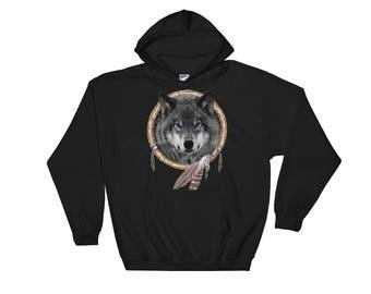 Wolf Dream Catcher Hoodie