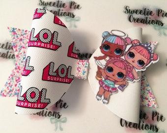 Doll bow - lol doll - cute hair bow - girls clip - hair clips - lol doll bow - lol surprise - girls gifts - birthday - lol surprise doll