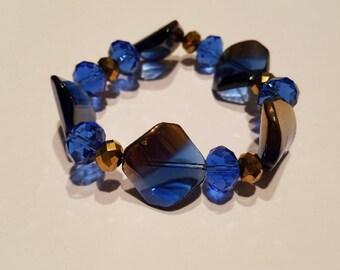 Blue square bracelet