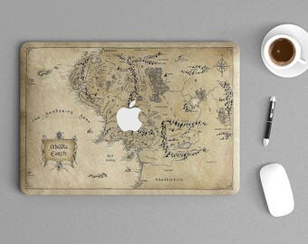 """Middle Earth Map Lord of The Ring Macbook Laptop Notebook Sticker Skin vinyl Decal 225 11"""", 13"""", 15"""" , 17"""" inches"""