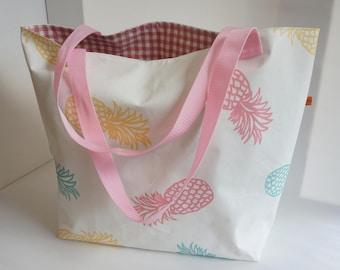XL Bath Bag * oilcloth * Shopper * Pineapple